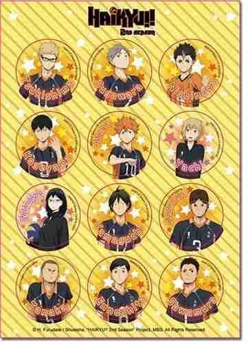 Haikyu!! S2 Club Experience Sticker Set