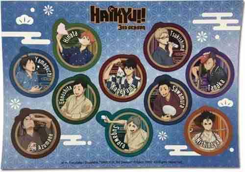 Haikyu!! S3 Bathrobe Sticker Set