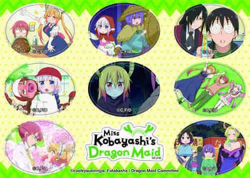 Miss Kobayashi's Dragon Maid S1 Screenshot Sticker Set