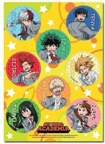 My Hero Academia Group Uniform Sticker Set Home Circle Media Anime Accessories And More