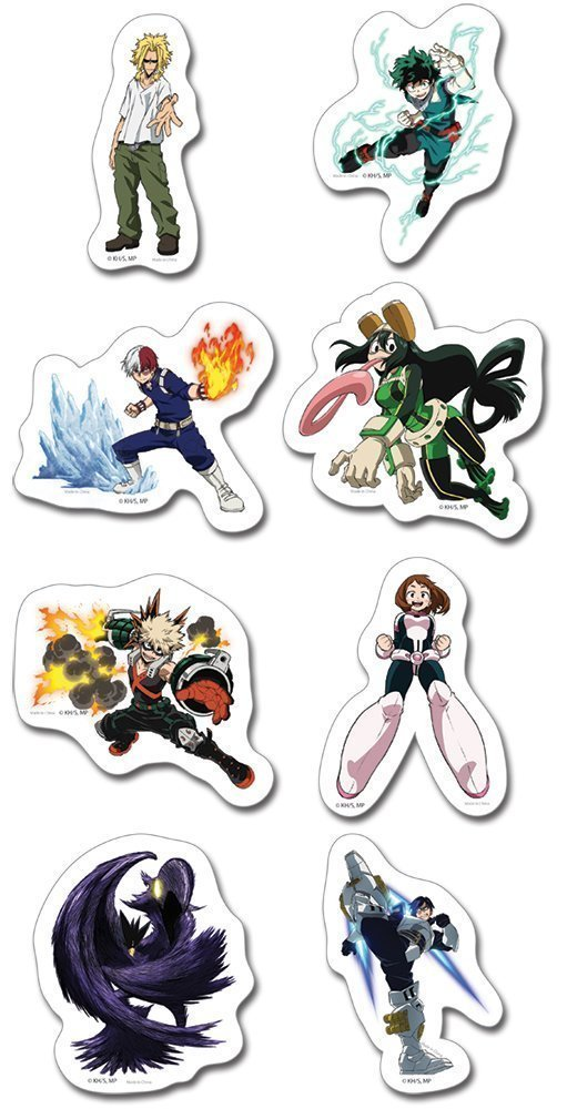 My Hero Academia MHA Die-Cut Sticker Set