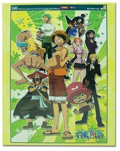 One Piece Group Glow in the Dark 1000pc Puzzle