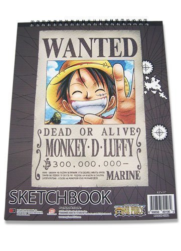 One Piece Luffy Wanted Sketchbook