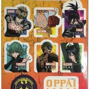 One Punch Man Icons Group Sticker Set