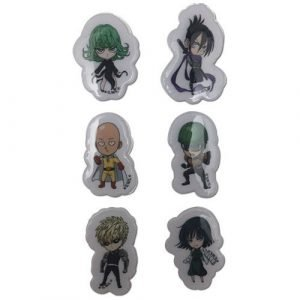 One Punch Man SD Group Puffy Sticker Set