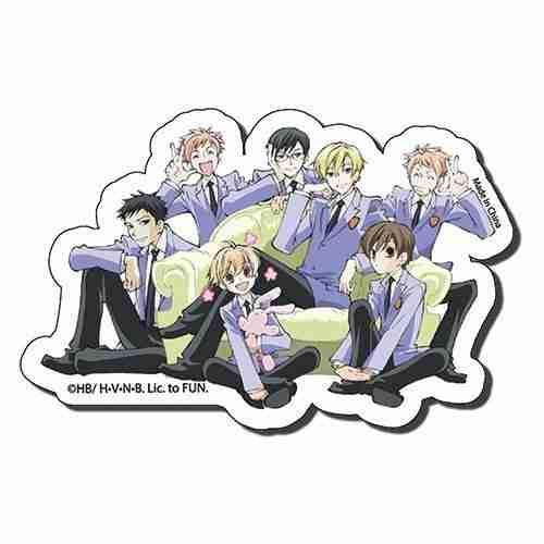 Ouran High School Host Club Group 2 Die Cut Sticker