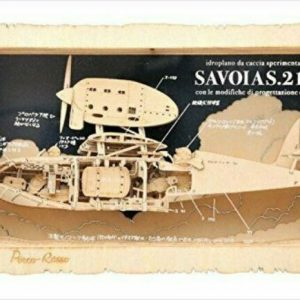 Studio Ghibli Paper Theater Porco Rosso Savoia S21F Wood Style