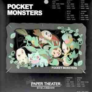 Pokemon Type Grass Paper Theater