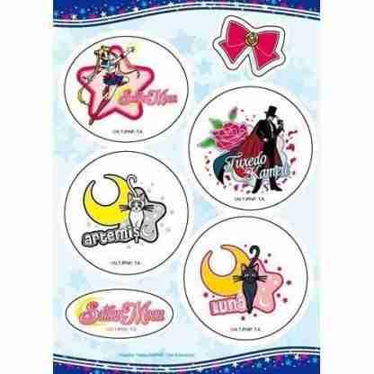 Sailor Moon Moon, Luna, Artemis, & Tuxedo Sticker Set