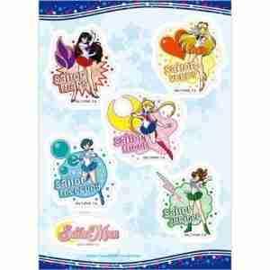Sailor Moon Mars, Venus, Mercury, & Jupiter Sticker Set