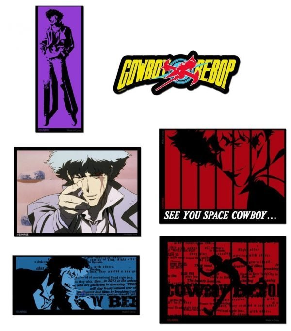 Cowboy Bebop Spike Screenshots Die-Cut Sticker Set