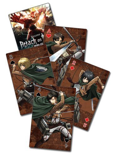 Attack on Titan S2 Group Playing Cards