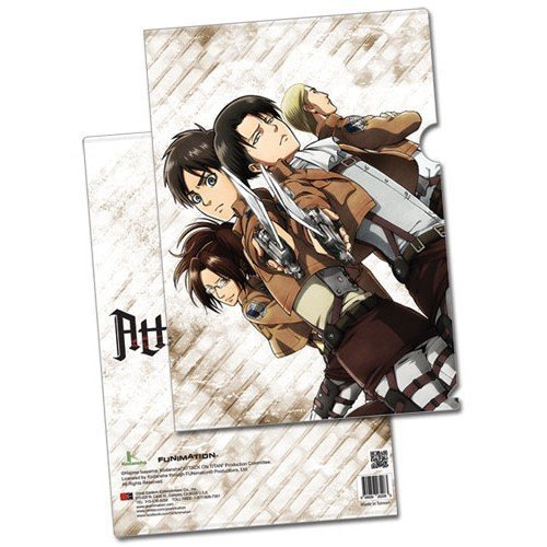 Attack on Titan Eren, Levi, Zoe & Erwin File Folder