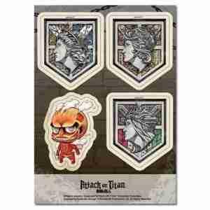 Attack on Titan Walls & SD Red Titan Sticker Set