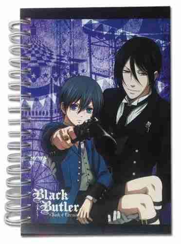 Black Butler Book of Circus Ciel and Sebastian Hardcover Notebook
