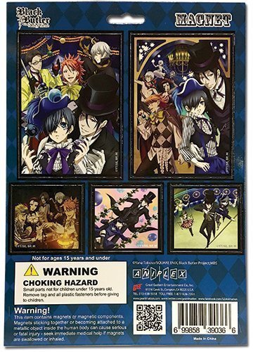 Black Butler Book of Circus Magnet Collection