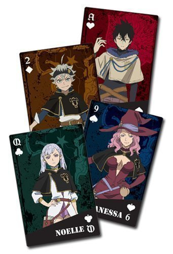 Black Clover Group Playing Cards
