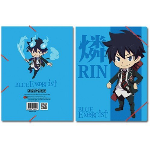 Blue Exorcist Rin Elastic Band Document Folder