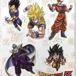 Dragon Ball Z Special Art Group Sticker Set