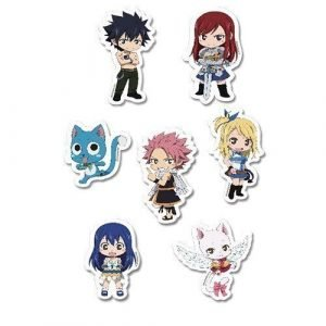 Fairy Tail SD Characters Puffy Sticker Set