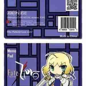 Fate/Zero Saber Memo Pad