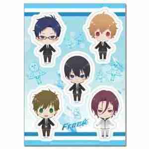 Free! SD Group Uniform Sticker Set