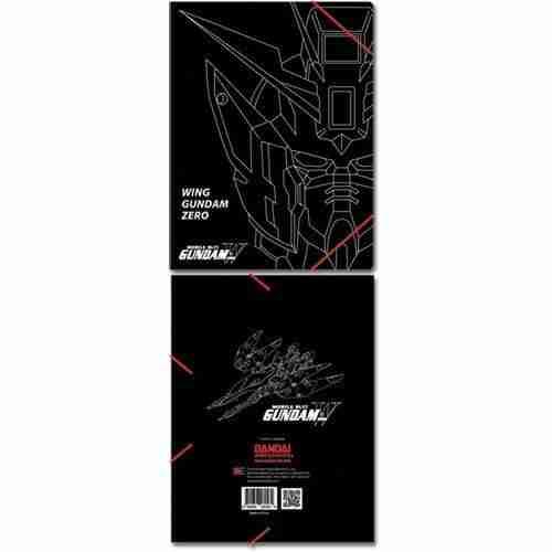 Gundam Wing Zero Elastic Band Document Folder