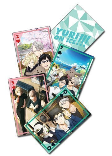 Yuri!!! On Ice Magazine Group Playing Cards